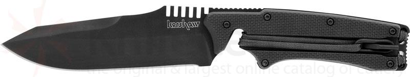 Kershaw Knives Whiplash 4-1/2 inch Fixed Blade with Built-In Parachute Cord Lanyard