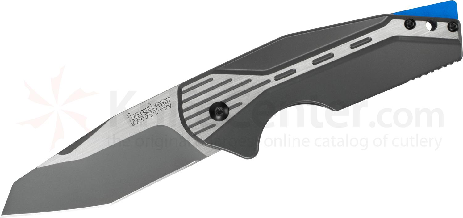 Kershaw 5520 Gustavo GTC Cecchini Malt Assisted Bottle Opener Flipper 3 inch Two-Tone Tanto Blade and Stainless Steel Handles