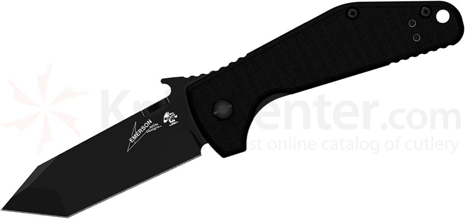 Kershaw Emerson 6014TBLK CQC-3K Folding Knife 2.75 inch Black Tanto Blade, G10 and Stainless Steel Handle