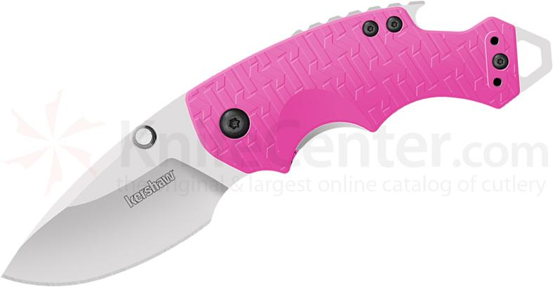 Kershaw 8700PINK Shuffle Multi-Function Folding Knife 2-3/8 inch Blade, Pink Glass Filled Nylon Handles