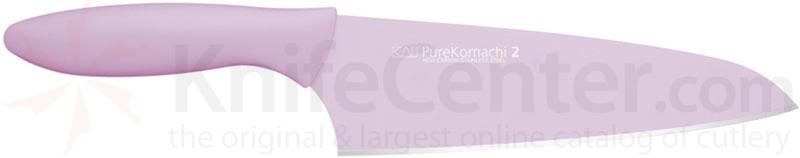 KAI Pure Komachi 2 Series (Pink) 6-1/2 inch Santoku / Asian Chef's Knife (AB5038)