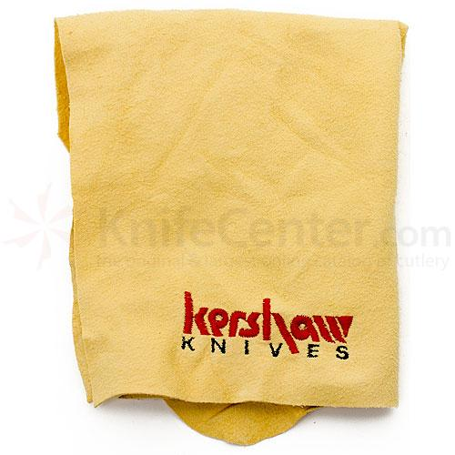 Genuine Leather Chamois Cloth with Embroidered Kershaw Knives Logo