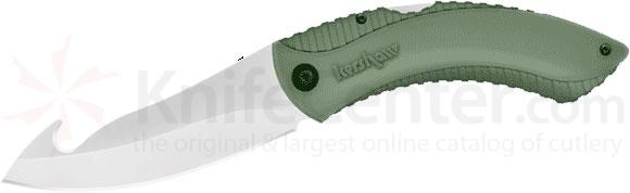Kershaw Northside Hunter Folder Knife 3.8 inch Plain Edge 8Cr13MoV Blade with Gut Hook