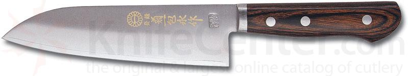 Kikuichi Warikomi Bunka Dimple Elite Gold All Purpose Knife 6.5 inch Blade (WGA17-06-5)