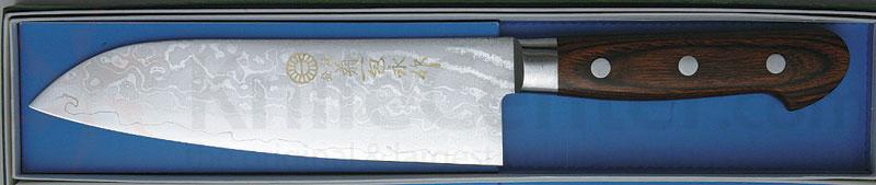 Kikuichi Warikomi Bunka Damascus Gold All Purpose 6.5 inch Blade (WGAD17-06-5)
