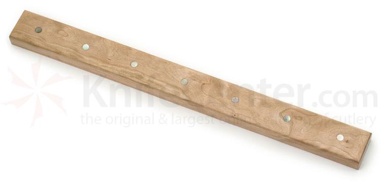 Cherry Wood Magnetic Kitchen Knife Holder for 7 Knives, Mother of Pearl Inlays