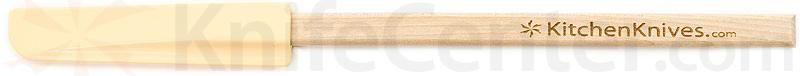 KitchenKnives.com Wooden Handle Spatula, Maize