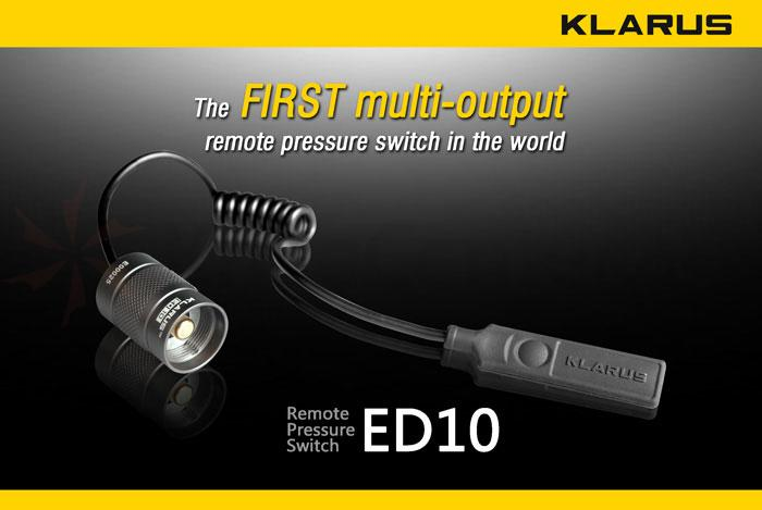 Klarus ED10RS Remote Pressure Switch for XT10, XT20, and XT30 Flashlights