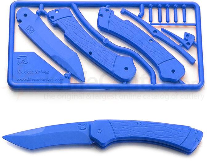 Klecker Trigger Folding Plastic Knife Kit 3.2 inch Blade, Blue