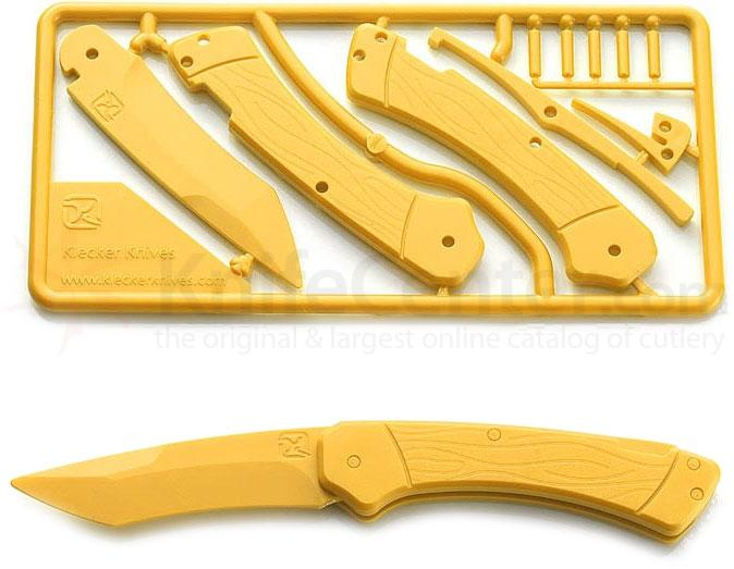 Klecker Trigger Folding Plastic Knife Kit 3.2 inch Blade, Yellow