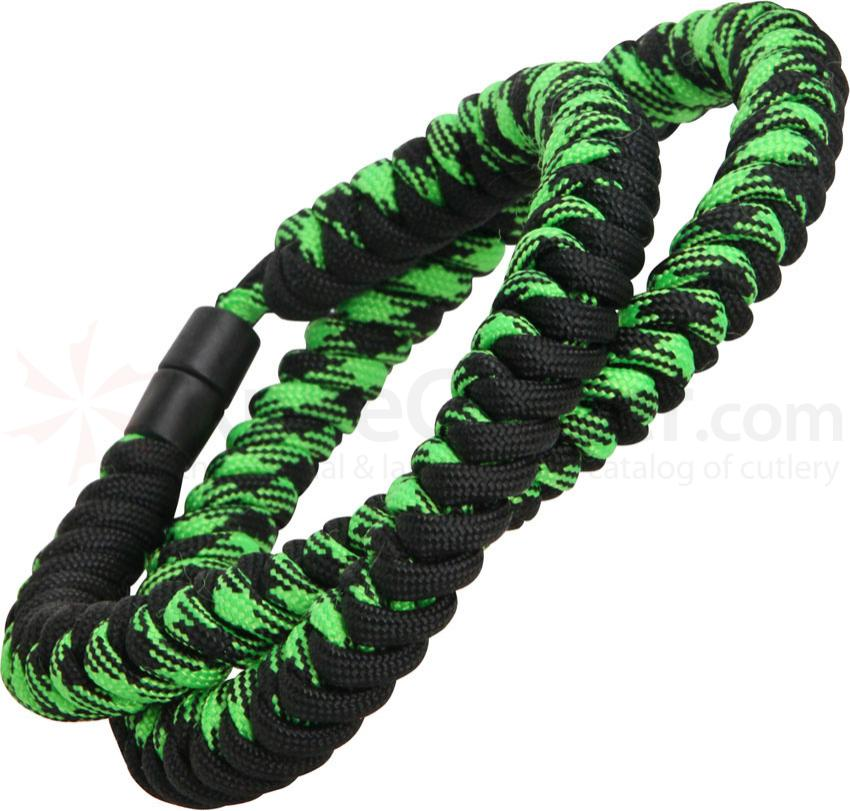 Knotty Boys Zombie Green Paracord Necklace, 24 inch Overall