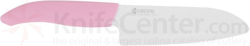 Kyocera Advanced Ceramics Revolution Series (Pink Handle) 5.5 inch Kitchen Santoku Knife