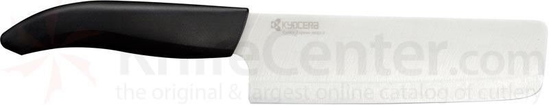 Kyocera Advanced Ceramics Revolution Series (White) 6 inch Kitchen Nakiri Vegetable Cleaver