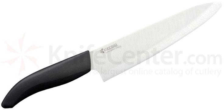 Kyocera Advanced Ceramics Revolution Chef's Knife 7 inch White Blade, Black Handle