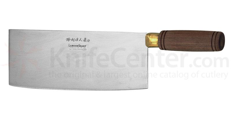 Superbe LamsonSharp USA Walnut Chinese Vegetable Cleaver 8 Inch Blade