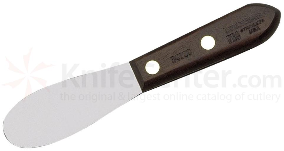 LamsonSharp USA Pro Stamped Granny Tools Walnut Sandwich Spreader - Plain Edge