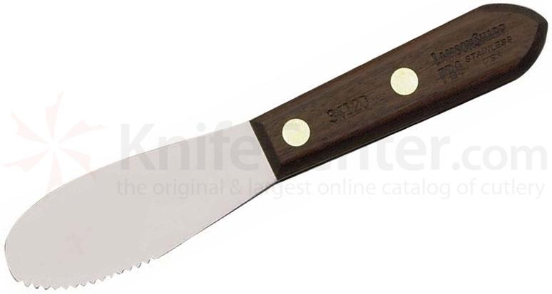 LamsonSharp USA ProStamped Granny Tools Walnut Sandwich Spreader - Wave Edge