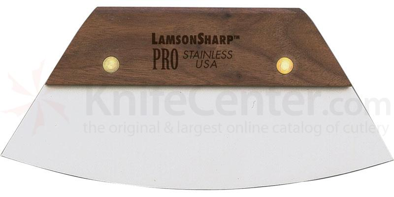 LamsonSharp USA Pro Walnut Bowl Scraper Rubberized Blade