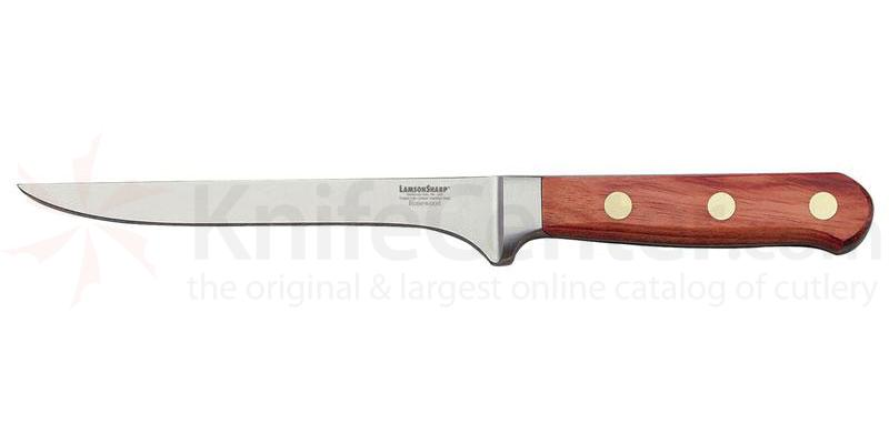Lamson Sharp USA 6 inch Rosewood Forged Fillet and Boning Knife - Plain Edge