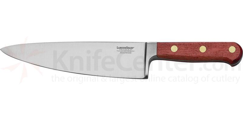 LamsonSharp USA 8 inch Rosewood Forged Wide Chef Knife - Plain Edge