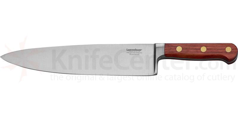 LamsonSharp USA 10 inch Rosewood Forged Wide Chef Knife - Plain Edge