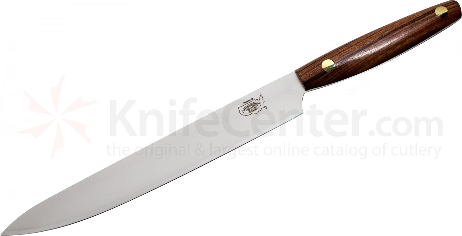 LamsonSharp Vintage Premier 9 inch BD-1 Steel Slicing Knife, Morado Wood Handle