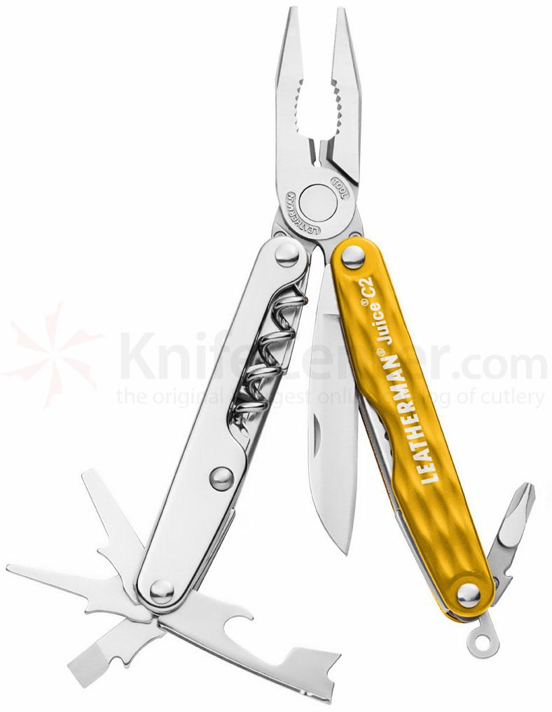 Leatherman Juice C2 Pocket-Size Multi-Tool, Sunrise Yellow
