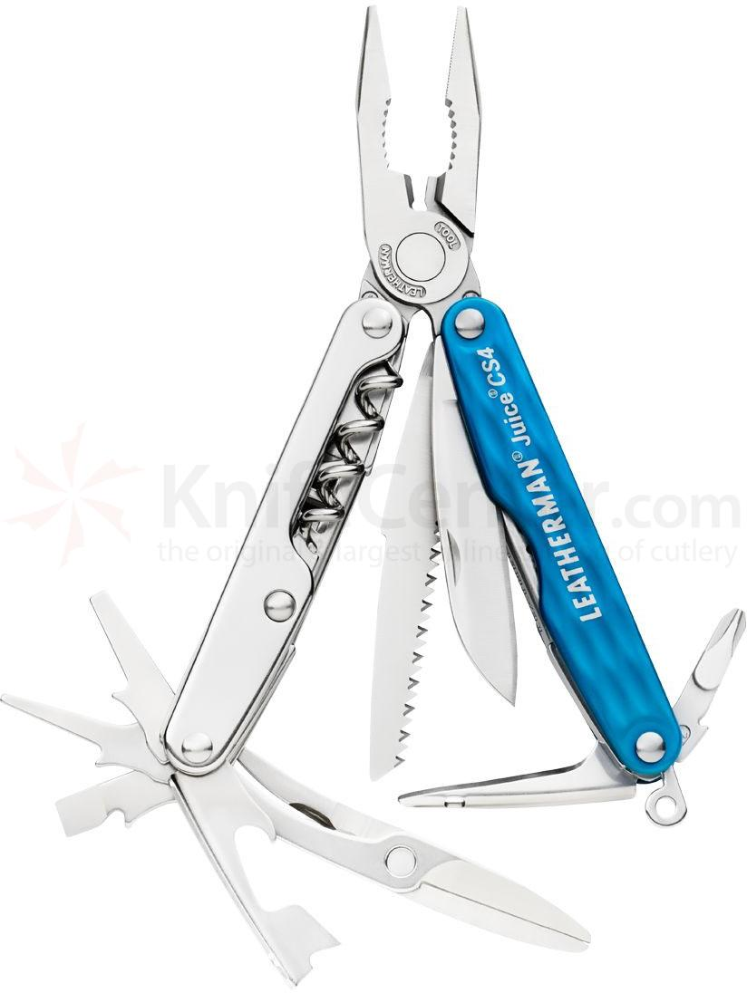 Leatherman Juice CS4 Pocket-Size Multi-Tool, Columbia Blue