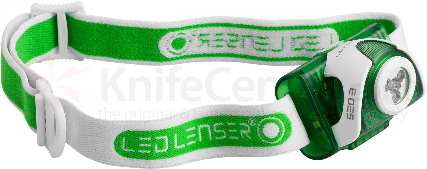LED Lenser 880126 SEO 3 LED Headlamp, 90 Max Lumens, Green