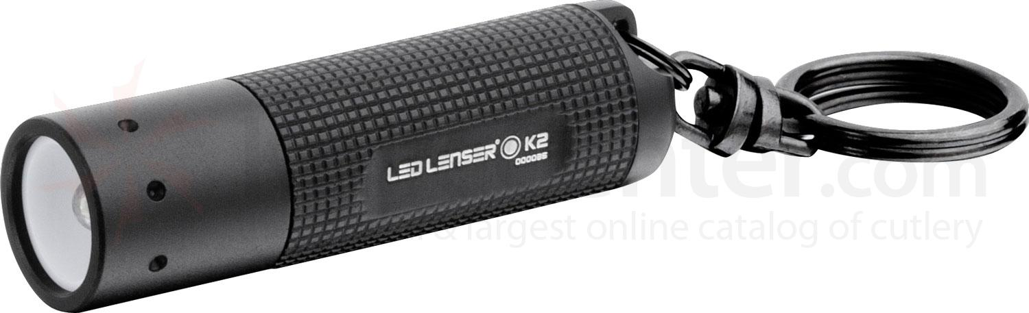 LED Lenser 880103 K2 Keychain-Size LED Flashlight, 25 Lumens, Black