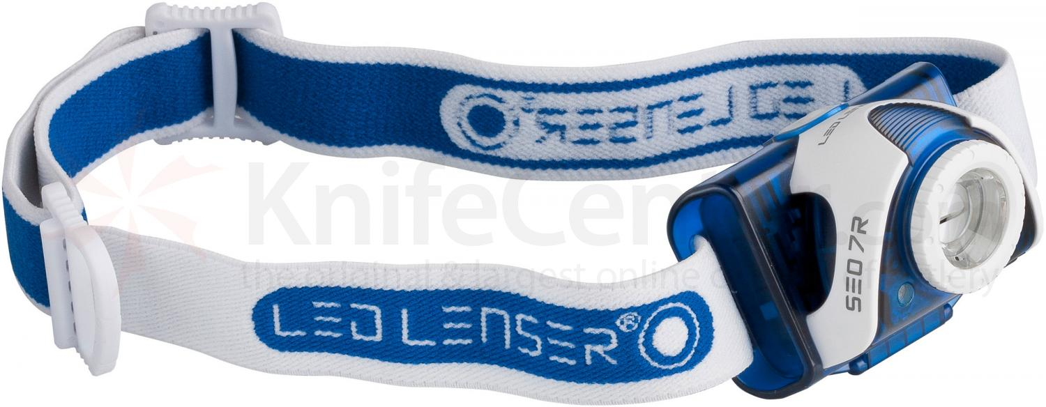LED Lenser 880132 SEO 7R LED Headlamp, 220 Max Lumens, Blue
