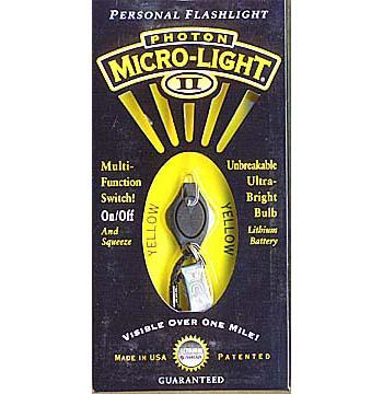 Photon Micro Light 2 Key Ring Yellow LED