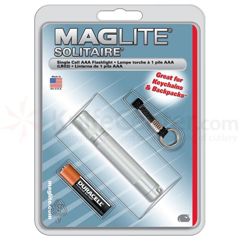 Maglite Solitaire Flashlight - Silver Body