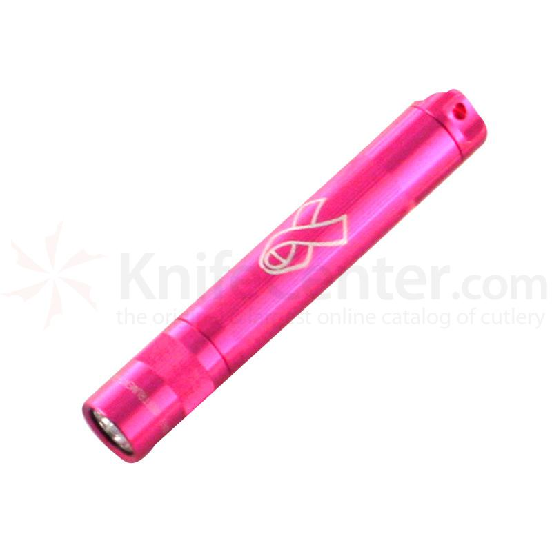 Maglite National Breast Cancer Solitare Flashlight - Pink Body