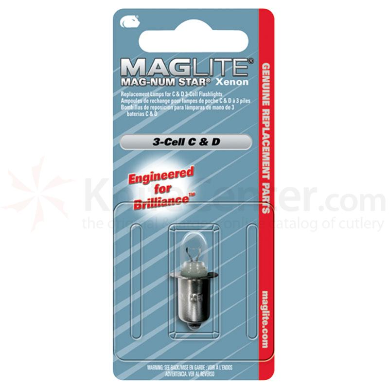 Maglite 3 Cell Mag-Num Star Xenon C or D Replacement Lamps 1 pack