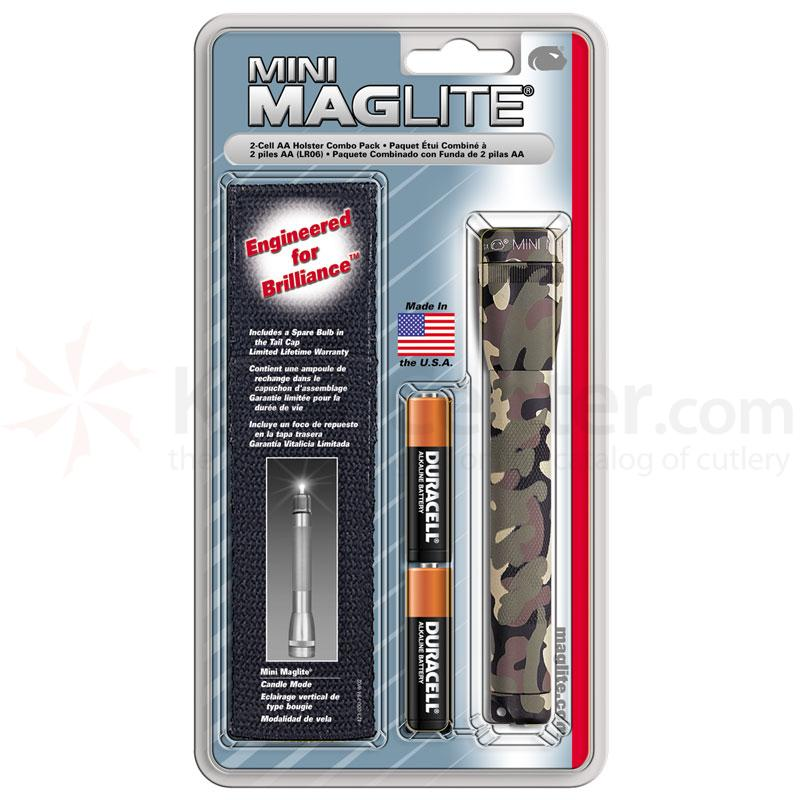 Maglite Minimag AA Holster Pack - Camo Body