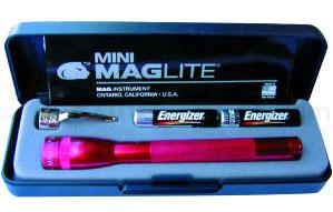 MagLite 2AAA Flashlight Red Gift Boxed