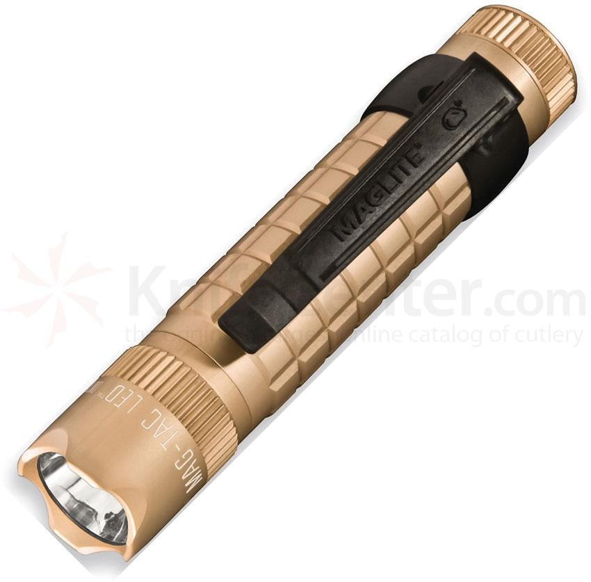 Maglite Mag-Tac LED Flashlight, Coyote Tan, 320 Lumens (SG2LRD6)