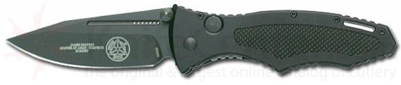 Masters of Defense Auto Hornet Keating Design 3.1 inch Plain Black Blade