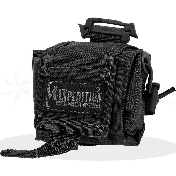 Maxpedition 0207B Mini Rollypoly Folding Dump Pouch, Black