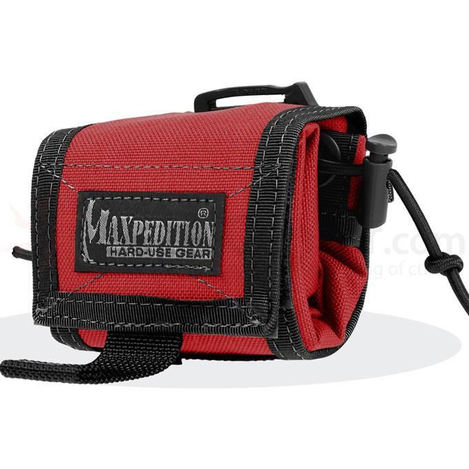 Maxpedition 0208ER Rollypoly Folding Dump Pouch, Fire-EMS Red