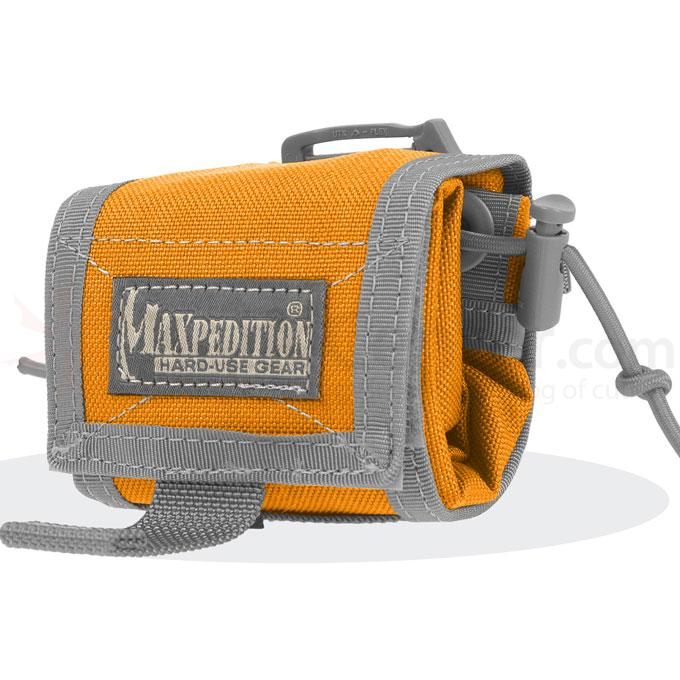 Maxpedition 0208OF Rollypoly Folding Dump Pouch, Orange-Foliage