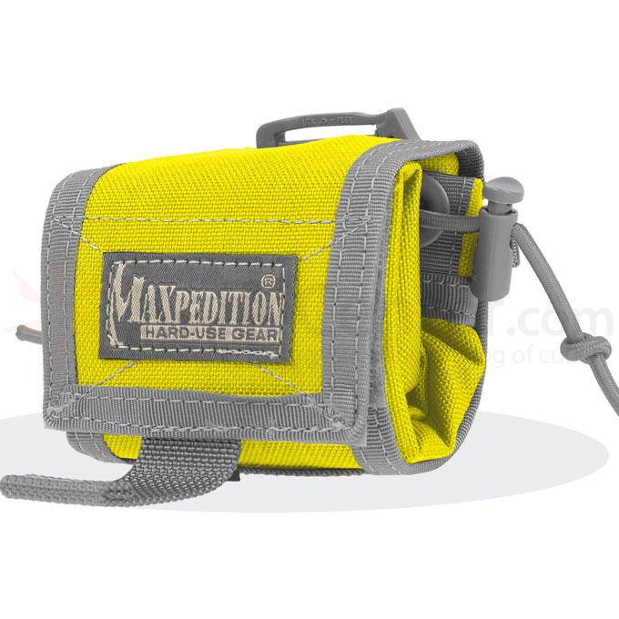 Maxpedition 0208SY Rollypoly Folding Dump Pouch, Safety Yellow