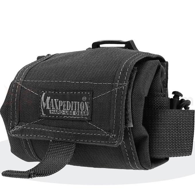 Maxpedition 0209B Mega Rollypoly Folding Dump Pouch, Black