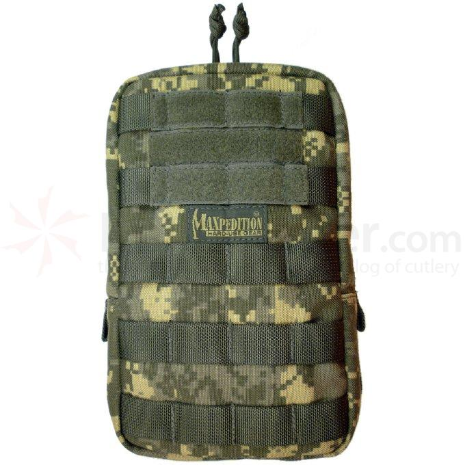 Maxpedition 0250DFC 6 inch x 9 inch Padded Pouch, ACU-Compatible Digital Foliage Camo
