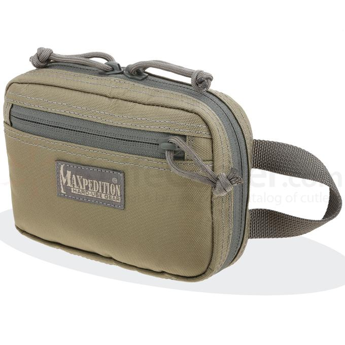 Maxpedition 3533KF Hook-&-Loop Modular Two Way Pocket (Small), Khaki-Foliage