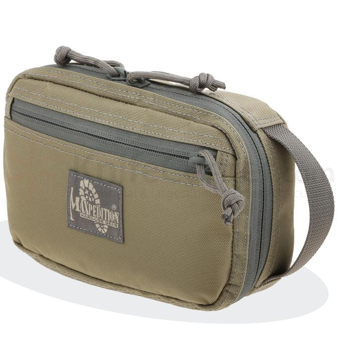 Maxpedition 3534KF Hook-&-Loop Modular Two Way Pocket (Large), Khaki-Foliage