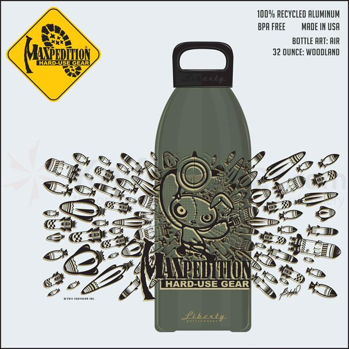 Maxpedition LB32AIRW 32oz Water Bottle  inchAIR inch, Woodland