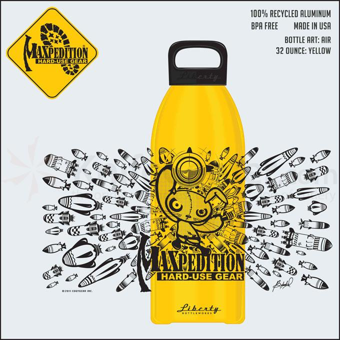 Maxpedition LB32AIRY 32oz Water Bottle  inchAIR inch, Yellow