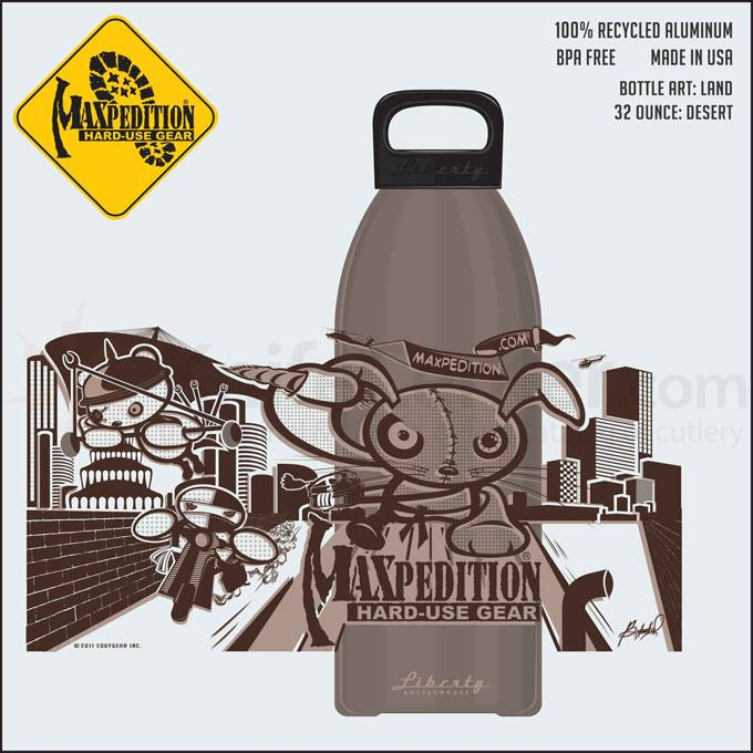 Maxpedition LB32LANDD 32oz Water Bottle  inchLAND inch, Desert Tan